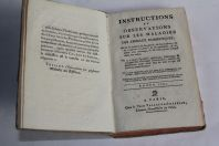 Livre Instructions Observations Maladies Animaux domestiques 1791