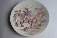Assiette Sarreguemines Carnot bataille de Wattignies N°:10