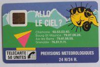 Télécarte à puce France Allo le ciel 50U 1988