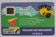Télécarte à puce France Allo le ciel 120U 1988