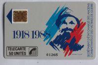 Télécarte à puce France Anciens combattants 1988