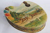 Boîte à biscuits Palette tôle lithographiée Huntley & Palmers London