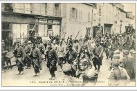 CPA 51 MARNE REIMS Prisonniers Allemands Guerre 1914-18