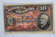 Billet 10 Centavos 1895 Argentine
