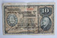 Billet 10 Centavos 1891 Argentine