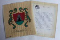 Dessin original Armes de la famille fribourgeoise Zillweger Suisse