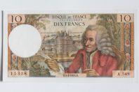 Billet 10 Francs Voltaire type 1963, 05-02-1970 Neuf