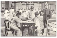 CPA GUERRE 1914-18 Prisonniers Français Allemagne Ambulance Allemande, jeu de dames
