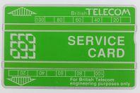 Télécarte de service Landis & Gyr Service Card 152K Royaume-Uni