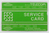 Télécarte de service Landis & Gyr Service Card 321B Royaume-Uni