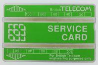 Télécarte de service Landis & Gyr Service Card 203H Royaume-Uni