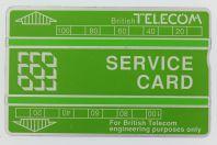 Télécarte de service Landis & Gyr Service Card 326B Royaume-Uni