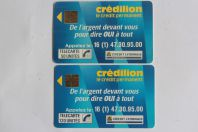 Télécartes à puce France Credilion 1989