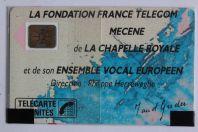 Télécarte à puce France Chapelle royale 1 1989 NSB