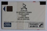 Télécarte à puce France Enfance et partage Garçon 1989 NSB