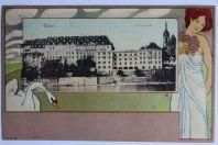 CPA  illustrée Basel Universitat Suisse Hellmut Eichrodt Art Nouveau