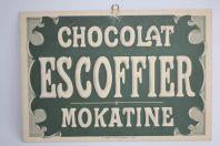 Ancien Carton publicitaire Chocolat Escoffier Mokatine Lyon
