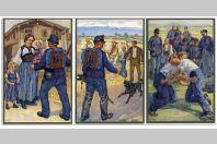 6 CPA illustrée HODEL E. Suisse Lucerne Militaires artistiques Soldat Guerre