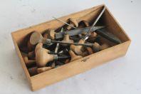Anciens outils gravure J. Rubin burins échoppes