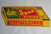 Plaque émaillée Allumettes Swan Vestas