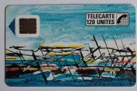Télécarte à puce France Baltazar 1989 accent rouge