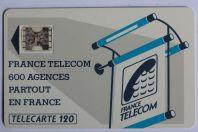 Télécarte à puce France 600 Agences Te26 SC4ab Offset ø 7 Texte 3