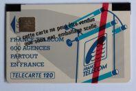 Télécarte à puce France 600 Agences Te48 SO3 Texte 3 120U NSB