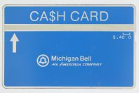Cash Card Landis & Gyr Michigan Bell an American Company 0.40$ USA