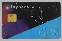 Télécarte à puce Inphone 15 MEM Prepaid phonecards Italie