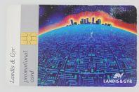 Télécarte à puce Democard L&G Promotional card Skyline Suisse 1996