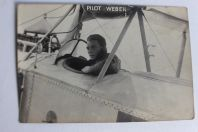 Carte photo avion aviateur Suisse Porrenthuy pilot Weber