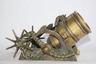 Pièce d'artillerie Mortier bronze Max Le Verrier