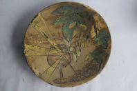 Grand plat céramique Huguette Bessone Vallauris Vignes