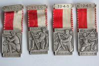 Médailles Concours de Tir Suisse S.S.V. S.S.C. 1945 à 1952