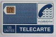 Carte téléphonique à puce France Pyjama SC2 120 unités
