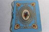 Cahier d'écolier vœux aux parents pour le nouvel an 1885