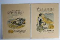 Cartons publicitaires vins Fréd. Fonjallaz Epesses Suisse