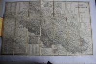 Carte Silésie Karte der Provinz Schlesien F. Handtke 1860