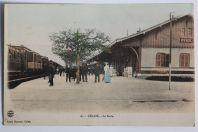 CPA Culoz La gare Chemin de fer Ain