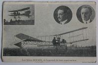CPA Les Frères DUFAUX et l'appareil de leur construction Aviation Genève