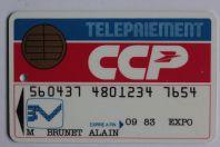 Smartcard Bull France Demo Telepaiement CCP Spécimen