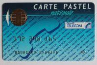 Télécarte à puce Bull France Carte Pastel nationale Démonstration