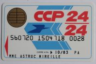 Smartcard Bull France Demo Telepaiement CCP 24/24 Spécimen