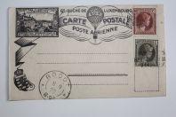 Carte poste aérienne par ballon montée Luxembourg 1927