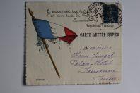 Carte Lettre rapide Fleurs de France 1920