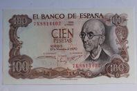 Billet 100 Pesetas Espagne 1970