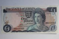 Billet 1 Pound Jersey type Elizabeth II