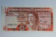 Billet 1 Pound Gibraltar 1975