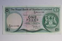 Billet 1 Pound Écosse 1982