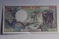 Billet 1000 Francs 1980 Tchad